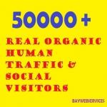 50000 Real Organic Human Traffic & Social Visitors 10 days