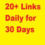 Manual 20+ links DAILY,  DA 40-99,  WHITEHAT
