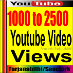BOOM BOOM Offer 1,000+ To 2,000 HIGH RETENTION Real & Active adsence safe Youtube vie ws for your videos