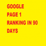 Google Page 1 Ranking in 90 days. + Manual Service +