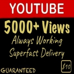 5000+ You tube Views Always Working with 12-36 Hours Superfast Delivery Refill Guarantee