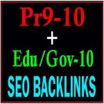 Manually Pr9-10 + Edu-Gov-10 Safe Seo High PR Seo Backlinks