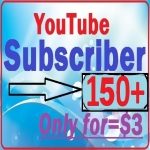 Non drop 150+ YouTube subscriber High performance Quick delivery only