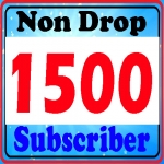 1500 permanent non drop You-Tu be sub-scribers safe and refill guarantee
