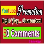 Mini Offer- Real 50 Youtube Video Comments and 20 subscribers from USA,  UK users.