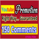 Promotion Guaranteed by Real 150 Youtube Video Com-ments and 100 subs-cribers from USA,  UK users