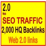 Get 2,000 web 2.0 high quality backlinks for your link s /keywords