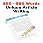 Unique 500 words article writing