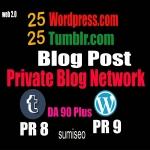50 PBN Blog POSTs Tumblr and WordPress 90 High DA