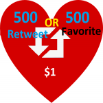 Get instant 500 retweet or 500 favorite for your post
