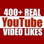 Add 400+ Real Genuine Human YouTube Video Likes