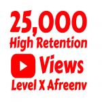 Add 25,000+ High Quality Youtube views