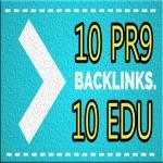 manually do 10 PR9 + 10 EDU-GOV Safe SEO High Quality Backlinks