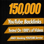 150,000 YouTube Video SEO Backlinks,  To Improve Video Ranking