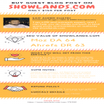 Write and publish guest post on SHOWLANDS. COM DA64