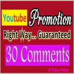 Guaranteed Real 30 YouTube Custom comments and 20 subs from UK/USA users