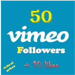 50 Vimeo Followers + 10 likes High quality
