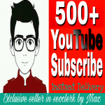 Fantastic offer 500+ Real channel Subscribers for in your channel from now