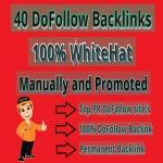 I Will Do Whitehat,  40 Do-Follow Backlinks SEO For Rank Top In Google