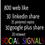 I will give you 915 social signals top sites