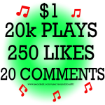 Soundcloud real 20000 plays+ 250 likes+ 20 comments. High quality
