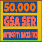 Provide 50,000 GSA Ser High Authority Back links