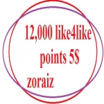 Give you ready 12k like4like points within 10 minute