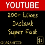 INSTANT 200+ Youtube Video Likes Non-Drop Guaranteed