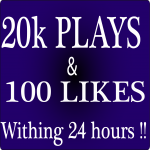 20,000+ USA Soundcloud plays and 100 likes within 24 hours