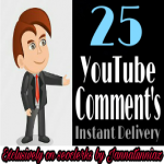 Get instant 25+ comments quickly delivery