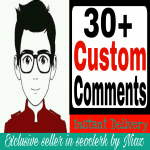 Get instant 30+ YouTube custom comments from real channel fast delivery