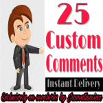 Get instant 25+ YouTube custom comments from real channel fast delivery
