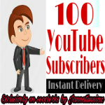Get instant 100 subscriber on your YouTube channel completed within 2 hour