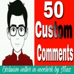 Get instant 50+ custom comment in your YouTube video's