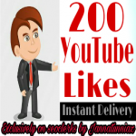 INSTANT 200+ Youtube Video Likes or 77+ Subscribers manually Non-Drop Guaranteed