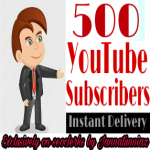 Get instant 500+ Subscriber in your YouTube video channel
