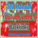 Manually 100 You-Tu-be Video Backlinks all high quality site Backlink and get promoted