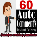Get instant 60+ Auto Comment in your YouTube video provided completed within 2-5 hours