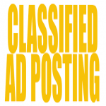 30 Manually ads post in High Page Ranked ad posting sites