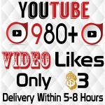 Instant 980+ Youtube Videos likes Delivery Within 5-12 hours