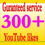 Get Guaranteed 300+ YouTube Real Likes Instant delivery