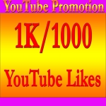 Get Guaranteed 1K/1000 YouTube Real Likes Instant Start only