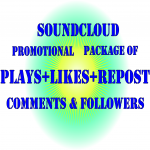 Permanent 3M Soundcloud Plays+ 7000 Likes + 5000 Reposts+ 2000 Comments and free 3000 Followes+500 Comments.