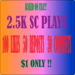 Effective 2.5k PLAYS 100 LIKES 50 REPOSTS 30 Comments on SOUNDCLOUD