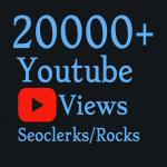 I will Add 20,000+ High Quality Youtube vie'ws