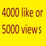 Instant start 6000 photo likes or 6000 video view promotion