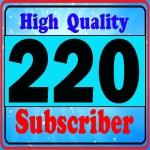Add 220+ high quality sub's-criber very fast