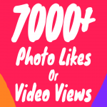 7000+ Photo Likes or Video Views Instant + Superfast