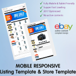 Ebay Template Design Auction Mobile Professional Responsive Html