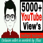 Instant start 5000/5k Real Vie'ws from worldwide never dropped guaranteed